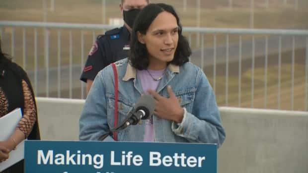 Seth Cardinal Dodginghorse says his family has been greatly affected by the ring road after they were forced from their land.   (CBC - image credit)