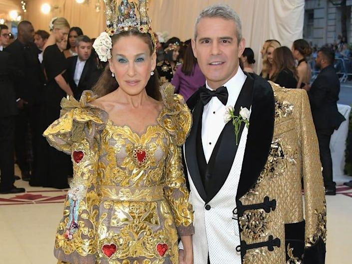 Sarah Jessica Parker and Andy Cohen at the Met Gala 2018