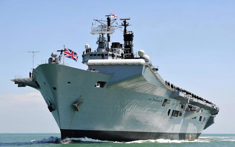 HMS Illustrious, the Royal Navy's former aircraft carrier -  Lt Jamie Weller RN/Ministry of Defence