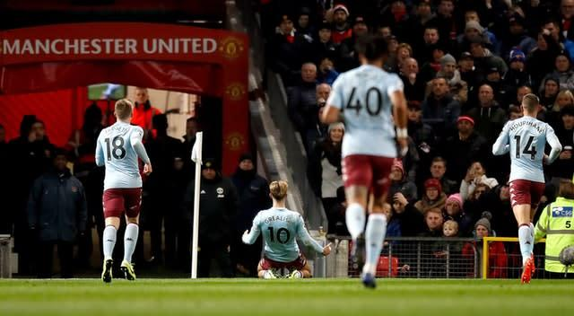 Jack Grealish has been linked with Manchester United, who he scored past earlier this season (Martin Rickett/PA)