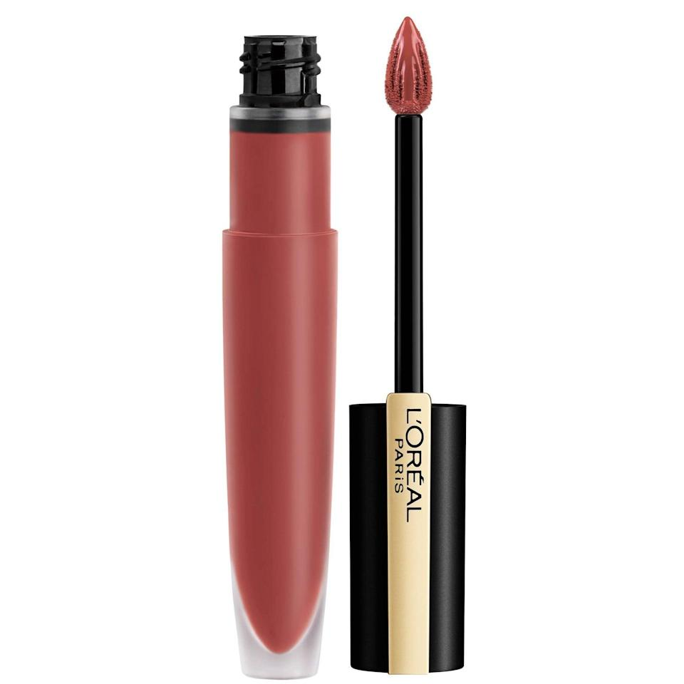 <p>The <span>L'Oreal Paris Rouge Signature Lipstick</span> ($9) is as long-lasting as lipstick formulas get. The pointed brush makes it easy to outline your lips and get a sharp line of color.</p>