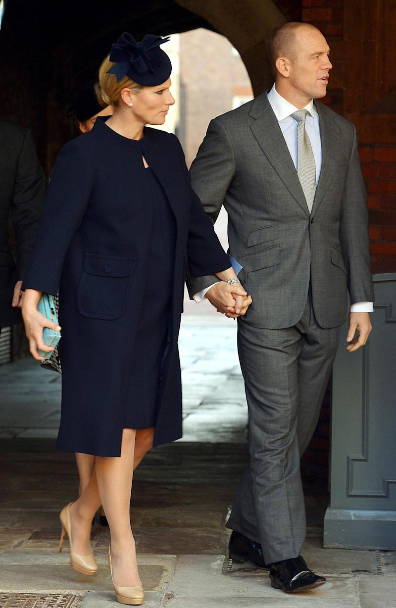 Friends: Zara Phillips, eldest granddaughter of the Queen, and her husband Mike Tindall (AFP/Getty Images)