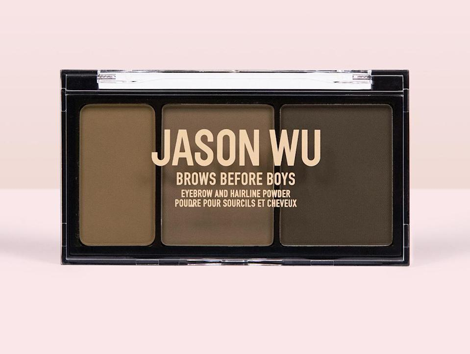 """<p>The beauty brand helmed by Taiwanese-Canadian fashion designer Jason Wu is partnering with the <a href=""""https://www.napawf.org/"""" rel=""""nofollow noopener"""" target=""""_blank"""" data-ylk=""""slk:National Asian Pacific American Women's Forum"""" class=""""link rapid-noclick-resp"""">National Asian Pacific American Women's Forum</a> through May, donating 10 percent of the month's proceeds from brow products to the organization. </p> <p><strong>Buy It!</strong> Jason Wu Beauty Brows Before Boys, $14; <a href=""""https://jasonwubeauty.com/collections/brows/products/brows-before-boys-eyebrow-and-hairline-powder-gus"""" rel=""""sponsored noopener"""" target=""""_blank"""" data-ylk=""""slk:jasonwubeauty.com"""" class=""""link rapid-noclick-resp"""">jasonwubeauty.com</a></p>"""
