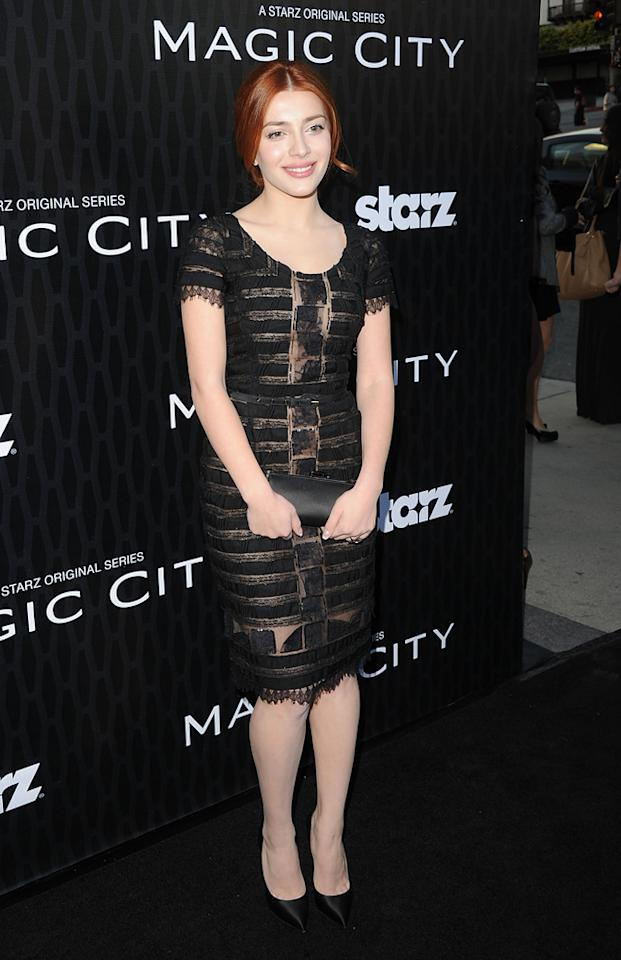 "Elena Satine attends the Starz '<a target=""_blank"" href=""http://tv.yahoo.com/magic-city/show/46996"">Magic City</a>' Los Angeles Series Premiere at Directors Guild Of America on March 20, 2012 in Los Angeles, California."
