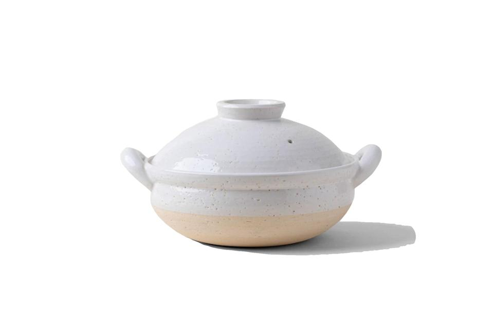 "$216, KonMari. <a href=""https://shop.konmari.com/products/konmari-kitchen-table-iga-mono-steam-donabe"" rel=""nofollow noopener"" target=""_blank"" data-ylk=""slk:Get it now!"" class=""link rapid-noclick-resp"">Get it now!</a>"