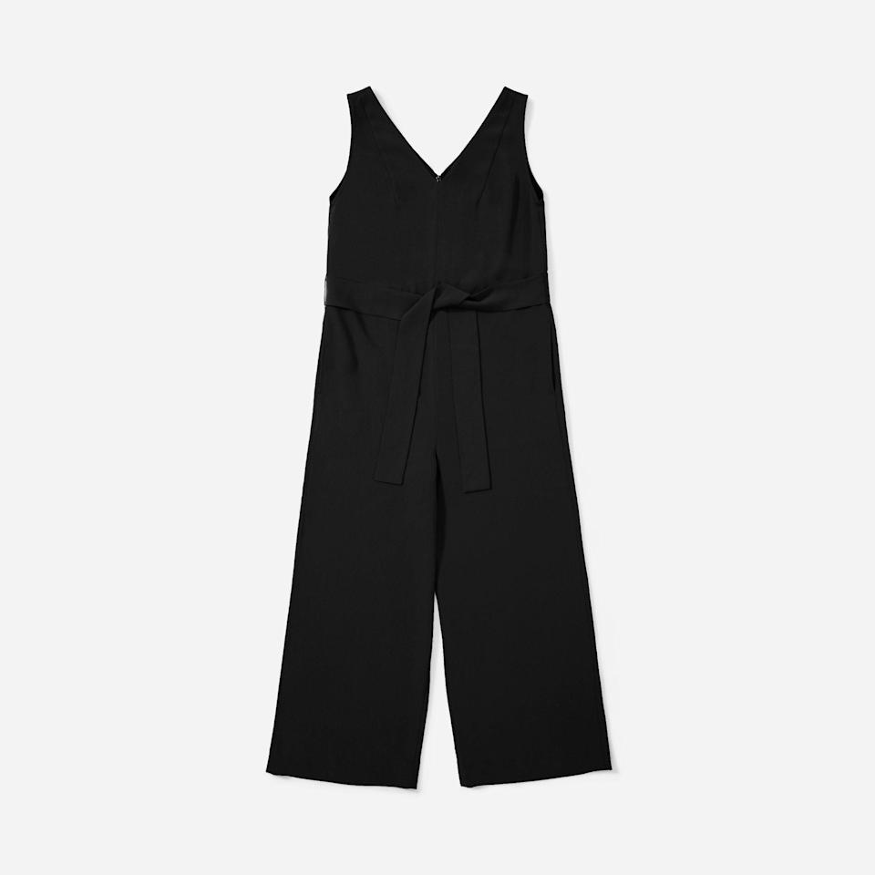 """<p><strong>everlane</strong></p><p>everlane.com</p><p><a href=""""https://go.redirectingat.com?id=74968X1596630&url=https%3A%2F%2Fwww.everlane.com%2Fproducts%2Fwomens-jpnse-goweave-essential-jumpsuit-black&sref=https%3A%2F%2Fwww.townandcountrymag.com%2Fstyle%2Ffashion-trends%2Fg34822978%2Feverlane-cyber-monday%2F"""" rel=""""nofollow noopener"""" target=""""_blank"""" data-ylk=""""slk:Shop Now"""" class=""""link rapid-noclick-resp"""">Shop Now</a></p><p><strong><del>$120</del> $84 (30% off)</strong></p>"""