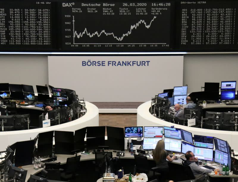 European stocks end lower as COVID-19 economic toll becomes clearer