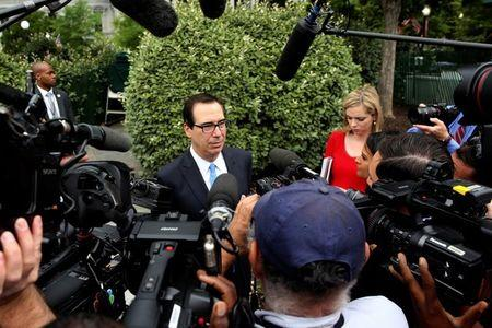 Mnuchin says Axios report on Trump wanting to exit WTO is wrong