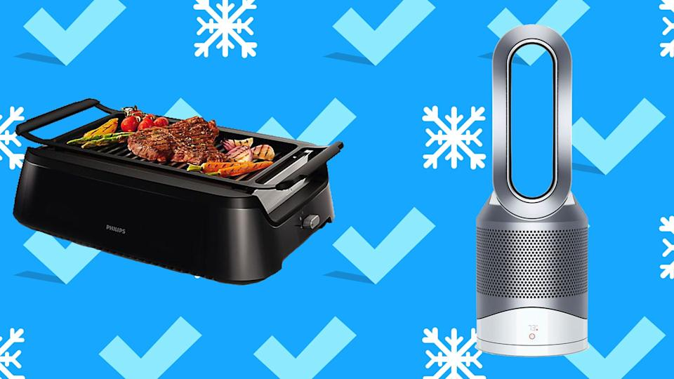 Save on everything from Dyson air purifiers to indoor grills.