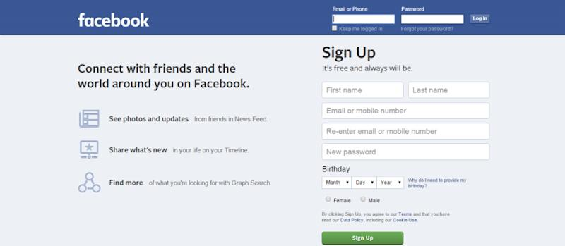 Logging in to Facebook, simple right?
