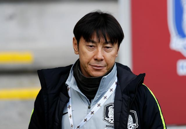 Soccer Football - International Friendly - Northern Ireland vs South Korea - National Football Stadium at Windsor Park, Belfast, Britain - March 24, 2018 South Korea coach Shin Tae-yong Action Images via Reuters/Jason Cairnduff