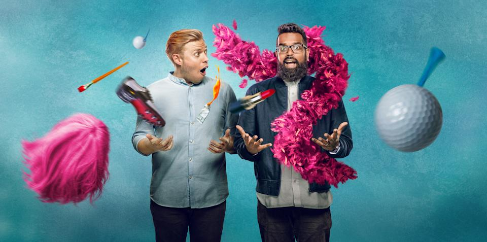Rob & Romesh Vs is in its third season. (Sky)