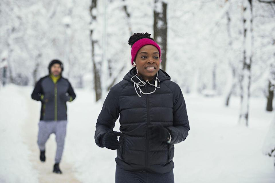 """<p>Your balmy outdoor workouts are just a few weeks away from turning into a frigid race for survival. Yay, black ice! <br><br><strong>RELATED: </strong><a href=""""https://edit-redbookmag.hearstapps.com/body/health-fitness/news/a17982/monika-allen-running-tips/"""" rel=""""nofollow noopener"""" target=""""_blank"""" data-ylk=""""slk:6 Tips for First-Time Runners"""" class=""""link rapid-noclick-resp""""><strong>6 Tips for First-Time Runners</strong></a></p>"""