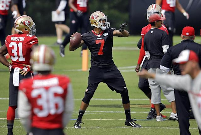 49ers' Kaepernick won't play much against Broncos