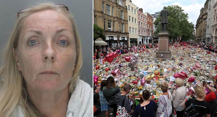 Susan Pain claimed she had a daughter who sustained multiple serious injuries in the Manchester Arena bombing. (PA)