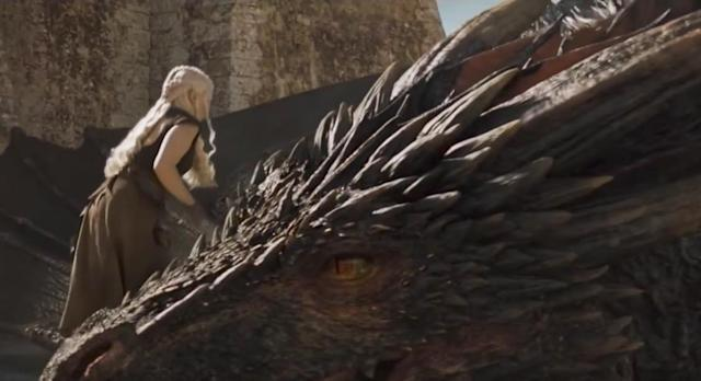 <p>Season 7 of <i>Game of Thrones </i>featured the show's best dragon FX yet (especially in the Loot Train Battle), but one doesn't have to look too far back when recalling some weaker moments. The penultimate episode of Season 5 featured Daenerys's first ride on the back of a dragon, and it was so clunky that it nearly distracted one from realizing she was basically abandoning all of her closest allies. Fortunately, a bigger budget has come along, and now when we see the Mother of Dragons taking flight on her children, it's actually pretty rad. <em>— Will Lerner</em><br><br>(Photo: HBO) </p>