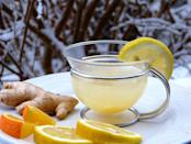 <p>Lemon ginger tea is a soothing infusion of citrusy lemons & therapeutic ginger that has many health benefits. Lemon ginger tea is known to aid weight loss & is a great drink that boosts immune system. A cup of lemon ginger tea can ease digestive problems too. To make lemon ginger tea, boil 3-4 cups water with few slices of ginger for a few minutes. Remove from flame & add lemon juice to taste & honey to sweeten the tea. Pour into cups & garnish with lemon slices. Image courtesy- Pixabay </p>
