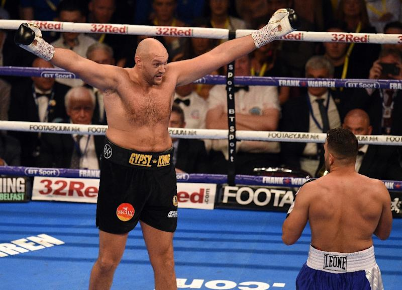 Britain's Tyson Fury is ready to face Deontay Wilder