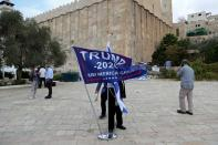 Israeli settlers pray for Trump's re-election in flashpoint West Bank city