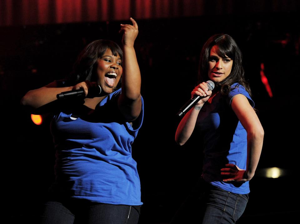 Amber Riley said she hadn't spoken to Lea Michele in two years, until Michele reached out this week. (Getty Images)