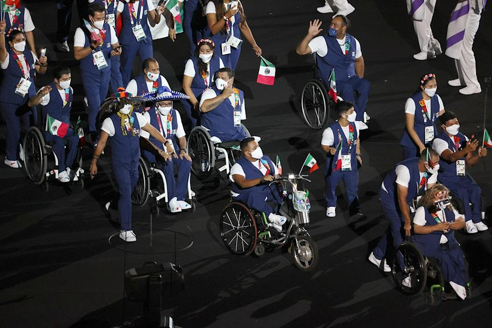 <p>The Parade of Nations was lead by the six members of the Refugee Paralympic Team. (Team Mexico pictured here.)</p>