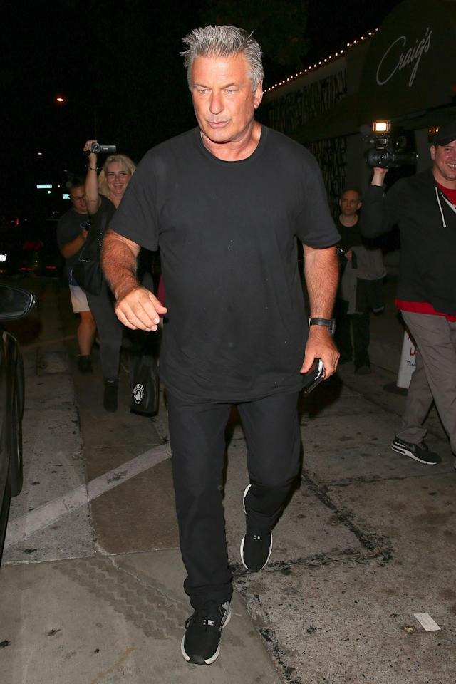 Alec Baldwin left Craig's restaurant in a little bit too much of a hurry, forgetting to pay his bill. (Photo: Backgrid)