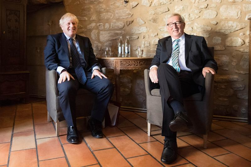 Boris Johnson and Jean-Claude Juncker met in Luxembourg to discuss Brexit over lunch this week (PA Images)