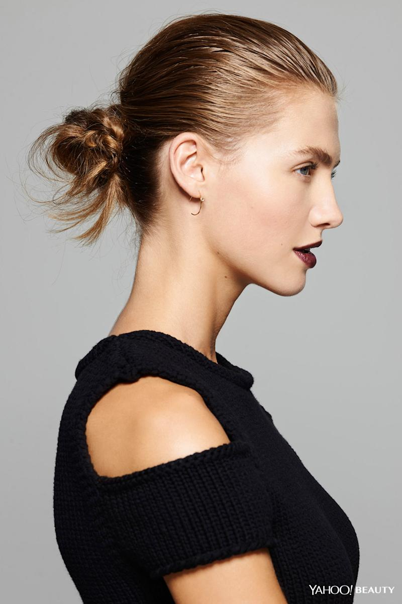 The Messy Bun Goes Glam Master Falls Easiest Hairstyle
