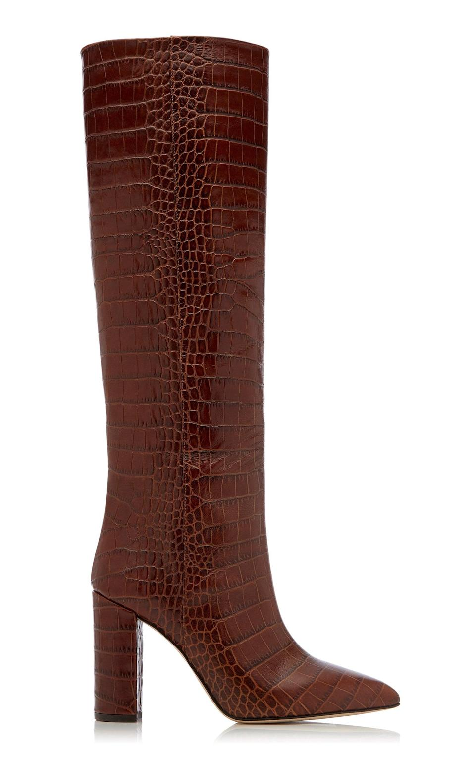 <p>These <span>Paris Texas Croc-Embossed Leather Knee Boots</span> ($795) are an editor favorite. They're structured and sleek, and while they come in a bunch of different colors, we're partial to this beautiful chocolate brown.</p>