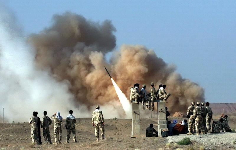 Ballistic missile Zelzal , is launched during the second day of military exercises, codenamed Great Prophet-6, by Iran's elite Revolutionary Guards at an undisclosed location in Iran in 2011. (Photo: EPA-EFE/Shutterstock)