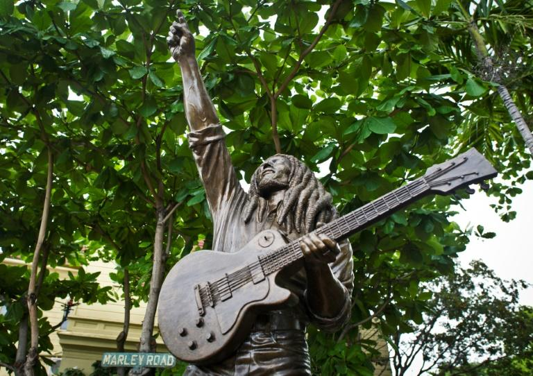 A statue of Jamaican reggae legend Bob Marley at his museum in Kingston