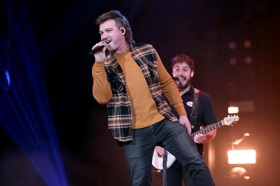 NASHVILLE, TENNESSEE - JANUARY 12: Morgan Wallen performs onstage at the Ryman Auditorium on January 12, 2021 in Nashville, Tennessee. (Photo by John Shearer/Getty Images for Ryman Auditorium)