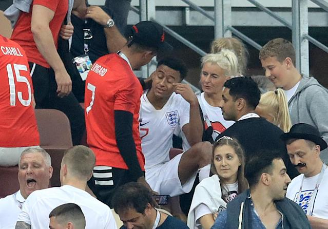 <p>Jesse Lingard was visibly upset. </p>