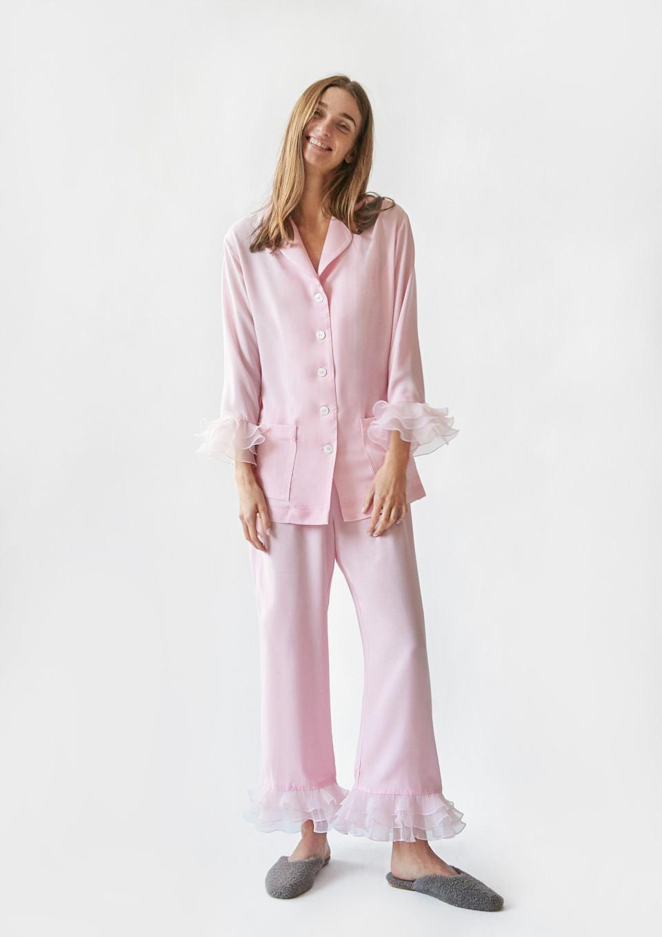 """<p><strong>Sleeper</strong></p><p>the-sleeper.com</p><p><strong>$168.00</strong></p><p><a href=""""https://the-sleeper.com/en/product/pierrot-party-pajama-set-in-pink/"""" rel=""""nofollow noopener"""" target=""""_blank"""" data-ylk=""""slk:Shop It"""" class=""""link rapid-noclick-resp"""">Shop It</a></p><p>The Ukranian </p>"""