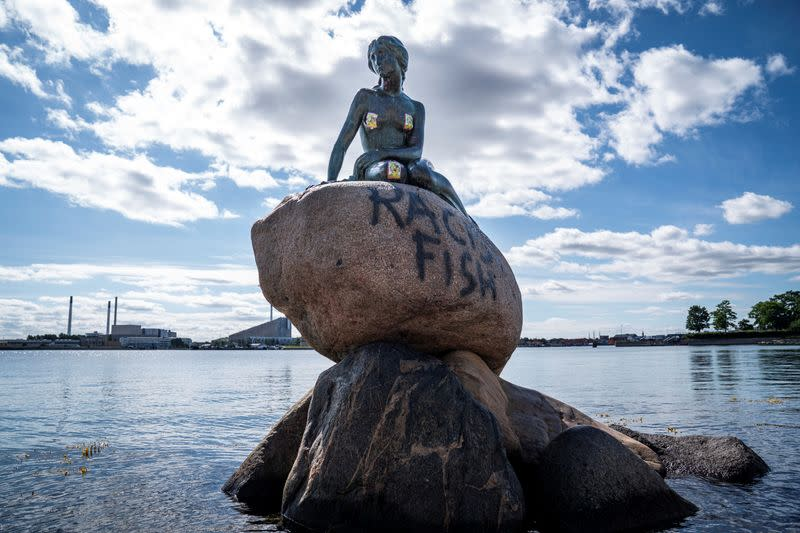 "Copenhagen's Little Mermaid labelled ""racist fish"""