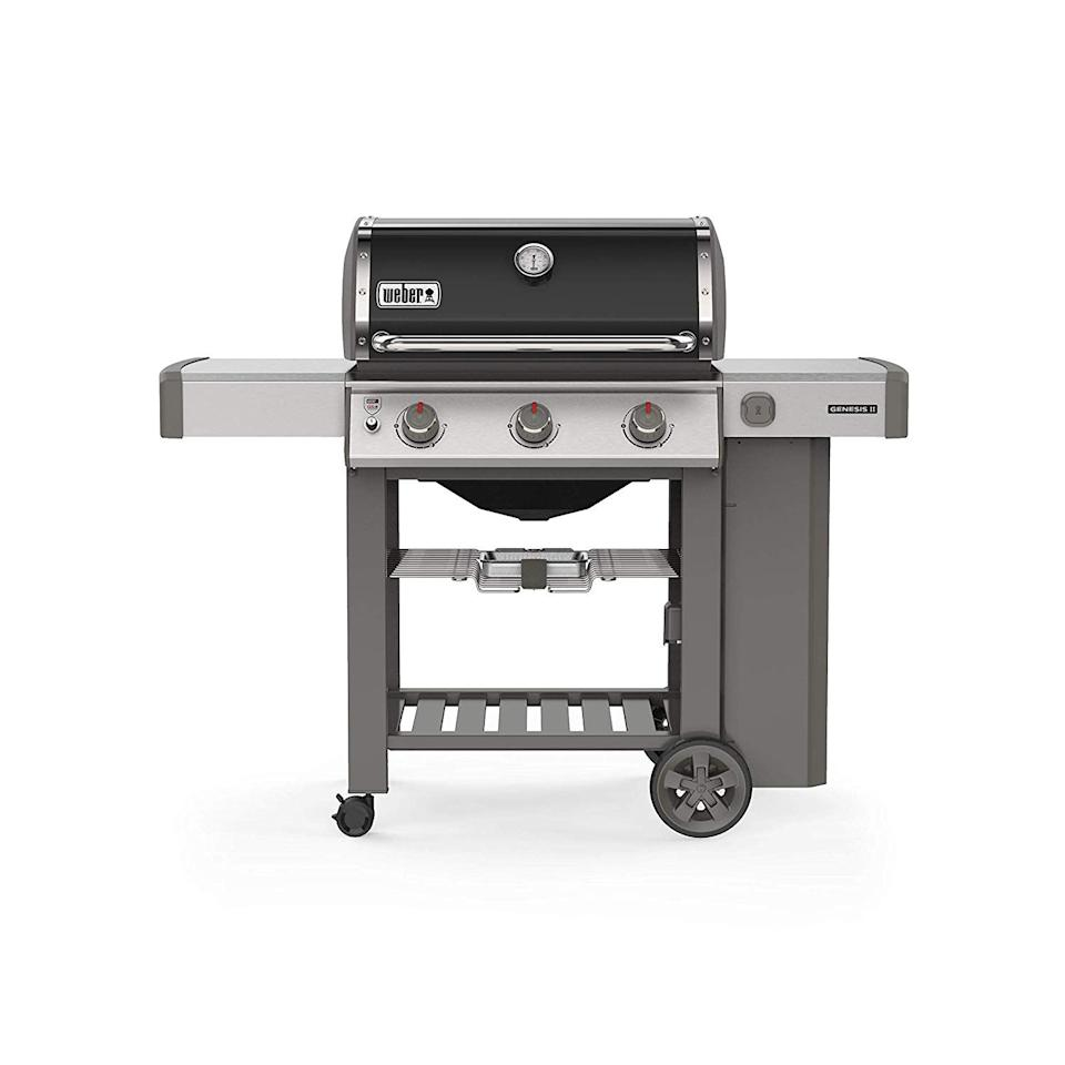 """<p><strong>Weber</strong></p><p>amazon.com</p><p><strong>$799.00</strong></p><p><a href=""""http://www.amazon.com/dp/B07H6193C8/?tag=syn-yahoo-20&ascsubtag=%5Bartid%7C10057.g.27821924%5Bsrc%7Cyahoo-us"""" target=""""_blank"""">BUY NOW</a></p><p>With three burners, a 10-year all-parts warranty, and iGrill 3 smart grilling technology compatibility (aka an app-connected thermometer that helps you grill perfectly every time!), you really can't go wrong. Add stainless steel side tables and hooks for all your tools, and you're really good to go. </p>"""