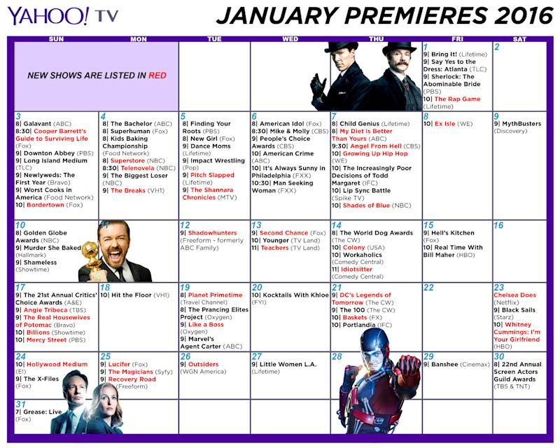 Winter TV 2016 Schedule: Print Out a Premiere Dates Calendar