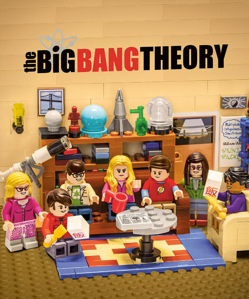 <p>That must be Thai food because they're all eating it with a fork. Even the Lego version of Sheldon could tell you why. (Credit: Warner Bros.) </p>