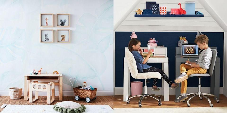 """<p>Now more than ever, having a desk to focus on virtual school and studying is important for kids (just like it's ideal for <a href=""""https://www.housebeautiful.com/design-inspiration/a31668687/how-to-work-from-home-office-decor/"""" rel=""""nofollow noopener"""" target=""""_blank"""" data-ylk=""""slk:WFH adults"""" class=""""link rapid-noclick-resp"""">WFH adults</a>). Whether you're a first-time kids' desk shopper or are looking for an upgrade, we've gathered the most functional and stylish kids' desks on the market right now—from mini desks that fit in small spaces to ones with built-in storage.</p>"""