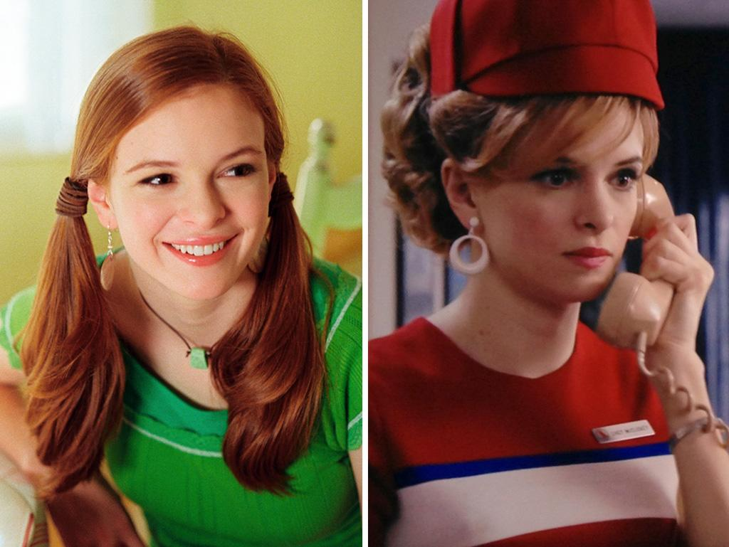 "Panabaker starred in Disney Channel movies as a teen, along with her younger sister Kay, and went on to play a budding superhero in the 2005 film ""Sky High."" Now she's flying the friendly skies on ""Mad Men"" as Daisy, the perky stewardess who helped Roger land the Chevy account."