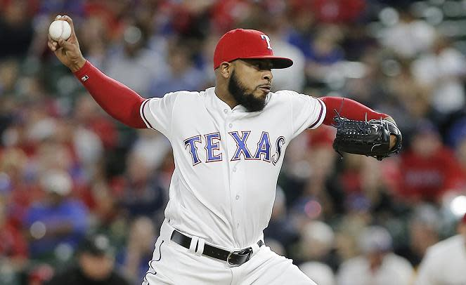 Reliever Jeremy Jeffress was traded back to the Brewers in a deadline day deal. (AP)