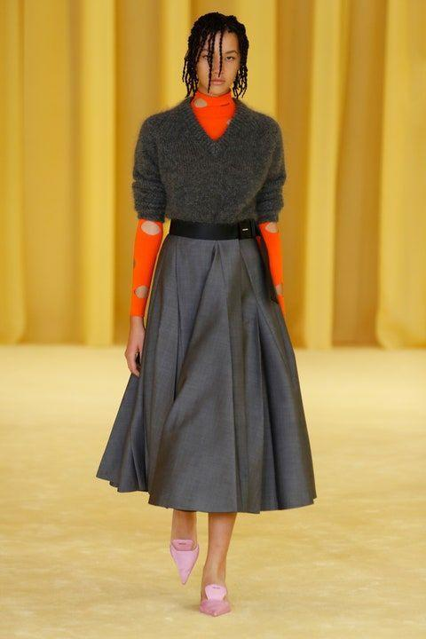 <p>Showing some skin—by any measure— feels like a necessity after wearing oversized loungewear for months on end. From turtlenecks to bodysuits to full-on jumpsuits, designers (<em>like</em><em> Prada, left</em>) found ways to reveal flesh in unexpected ways.</p>