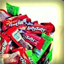 """<p><strong>Laffy Taffy</strong></p><p>At their <a href=""""http://www.taffy.org/laffy-taffy/"""" rel=""""nofollow noopener"""" target=""""_blank"""" data-ylk=""""slk:introduction in 1971"""" class=""""link rapid-noclick-resp"""">introduction in 1971</a>, these fruit-flavored taffies were used as a way to promote a movie that was just coming out. However, because they continued to be popular once the movie left theaters, they have been produced ever since. </p>"""
