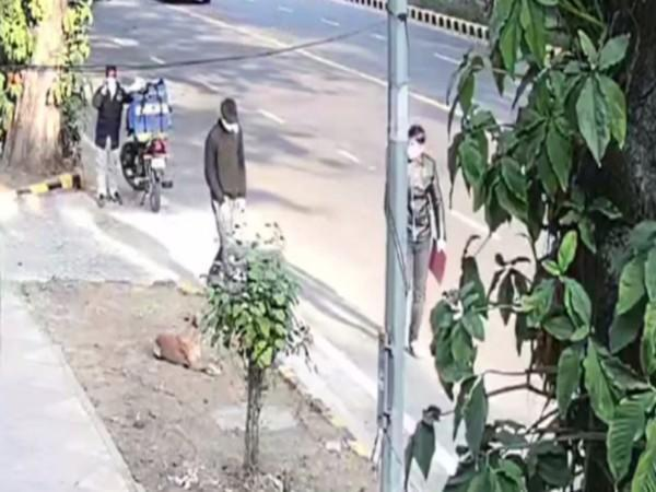Video footage released by NIA showing two suspects before the blast near Israel Embassy in Delhi.