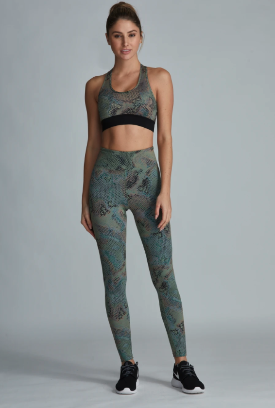 Actress Jenna Dewan was spotted in the Noli Yoga Serpent leggings and bra. Image via Noli Yoga.