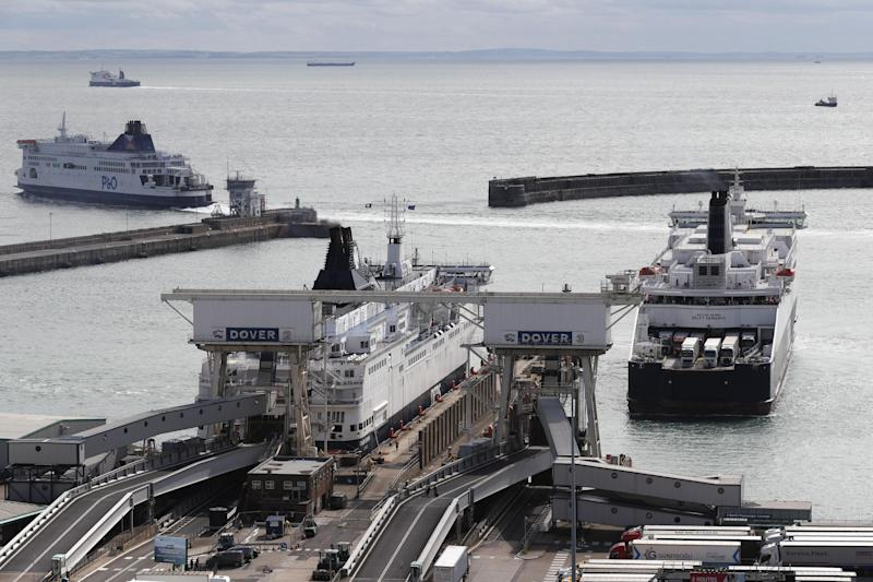 The ferry contract for Ramsgate is supposed to ease the pressure on Dover, pictured. But a local councillor said it would not be possible to set up a new service from Ramsgate in time for Brexit day, while also saying the company with the contract 'has no ships' (Adrian Dennis/AFP/Getty Images)