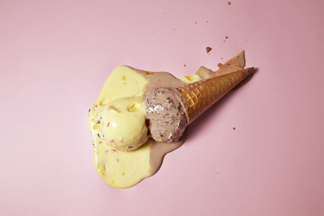 Let your next melted ice cream fiasco turn into wearable art. (Photo: Getty Images)