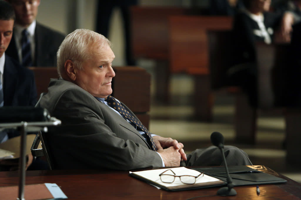 "Brian Dennehy as Bucky Stabler, who represents a civilian contractor who is accused of trying to rape an Army captain in Afghanistan in ""The Art of War,"" the sixth episode of ""The Good Wife"" Season 4."