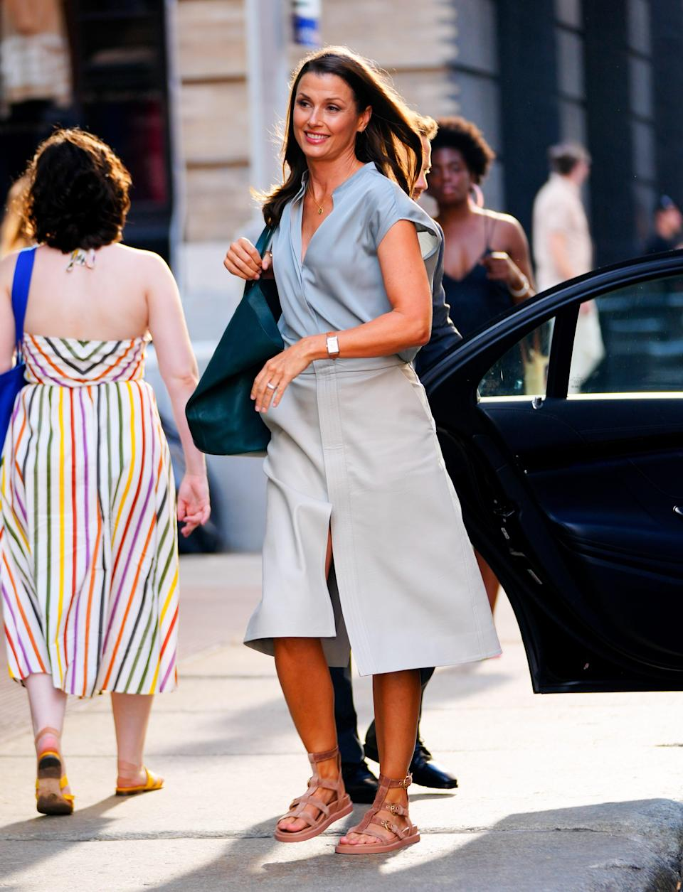Bridget Moynahan on location for 'And Just Like That...' the reboot to 'Sex and the City'
