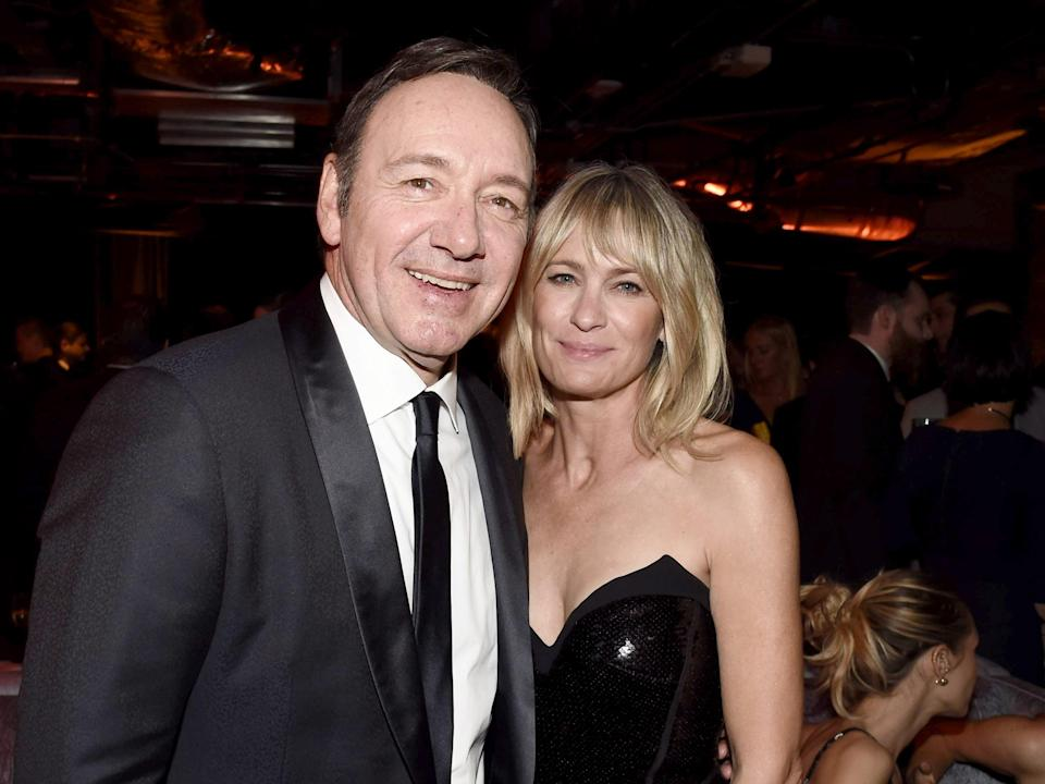 <p>Kevin spacey and Robin Wright</p> (Dan Steinberg/Shutterstock)